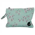 Small pouch Flamingo Green