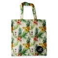 Eco Tote Bag Hibiscus and Pineapple