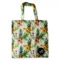 Eco Tote Bag Hibiscus and Pineapple