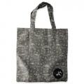 Eco Tote Bag Gray Dinosaurs