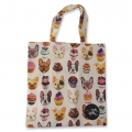 Eco Tote Bag Bull Dogs and Cupcakes