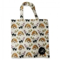 Eco Tote Bag Fox, Flower and Mushroom