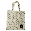 Eco Tote Bag Flamingo, Hibiscus, Pineapple, Sunglasses, Umbrella and Coconut Palm Tree