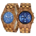 Handmade Wooden Watch Made with Asian Koa Wood and Asian Mango Wood # 11A-BLF