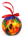 Holiday Ornament Featuring Hawaiian Ukulele and Tropical Blooms
