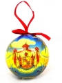 Christmas ball showing  coat of arms of Hawaii