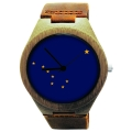 Handmade Wooden Watch Made with Natural Bamboo with State of Alaska Flag