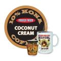 "Hula Girl 10% Kona Blend Freeze Dried Instant Coffee ""Coconut Cream"" Jar with Handle (40g)"
