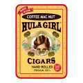Hula Girl Coffee Mac Nut Small Cigar Tin with 8 Mini Cigars