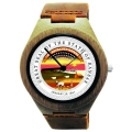 Handmade Wooden Watch Made with Natural Bamboo Wood with State of Kansas Seal
