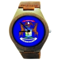 Handmade Wooden Watch Made with Natural Bamboo with State of Michigan Flag