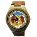 Handmade Wooden Watch Made with Natural Bamboo Wood with Seal of State of Missouri
