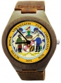 Wooden Watch Made with Natural Bamboo Wood with State of Maryland Seal