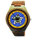 Kahala Wooden Watch Made with Natural Bamboo with State of Oklahoma Seal