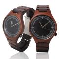 Handmade Quartz wooden Watch Made with Natural Red Sandalwood - Kahala Brand #28