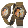 Handmade Kahala Wooden Watch Made With Natural Acacia Koa Wood with Hawaiian Artwork - HGW204