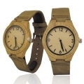 Handmade Wooden Watch Made with Natural Acacia Koa Wood with Brown Cowhide Leather Strap Kahala Brand - HGW-23AK39