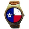 Kahala Wooden Watch Made with State of Texas Flag