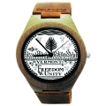 Kahala Watch Made with Natural Bamboo Wood with State of Vermont Seal
