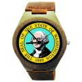 Kahala Wooden Watch Made with Natural Bamboo with State of Washington Seal