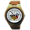 Kahala Wooden Watch Made with Natural Bamboo Wood with State of Arkansas Seal