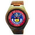 Kahala Wooden Watch Made with Natural Bamboo with State of Colorado Seal