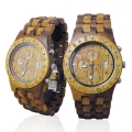 Handmade Wooden Watch Made with Hawaiian Koa Wood and Mango Wood - Kahala Brand # 11-A