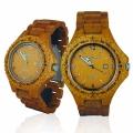 Handmade Wooden Watch Made with Acacia Mango Wood - Kahala # 1M