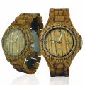 Handmade Wooden Watch Made with Zebra Wood - Kahala Brand # 1Z
