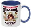 Hula Girl Coffee 11oz Mug Two Tone Black Inner and Handle
