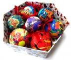 Hula Girl Hawaiian Christmas Tree Ornaments Box of 7 Mixed Balls